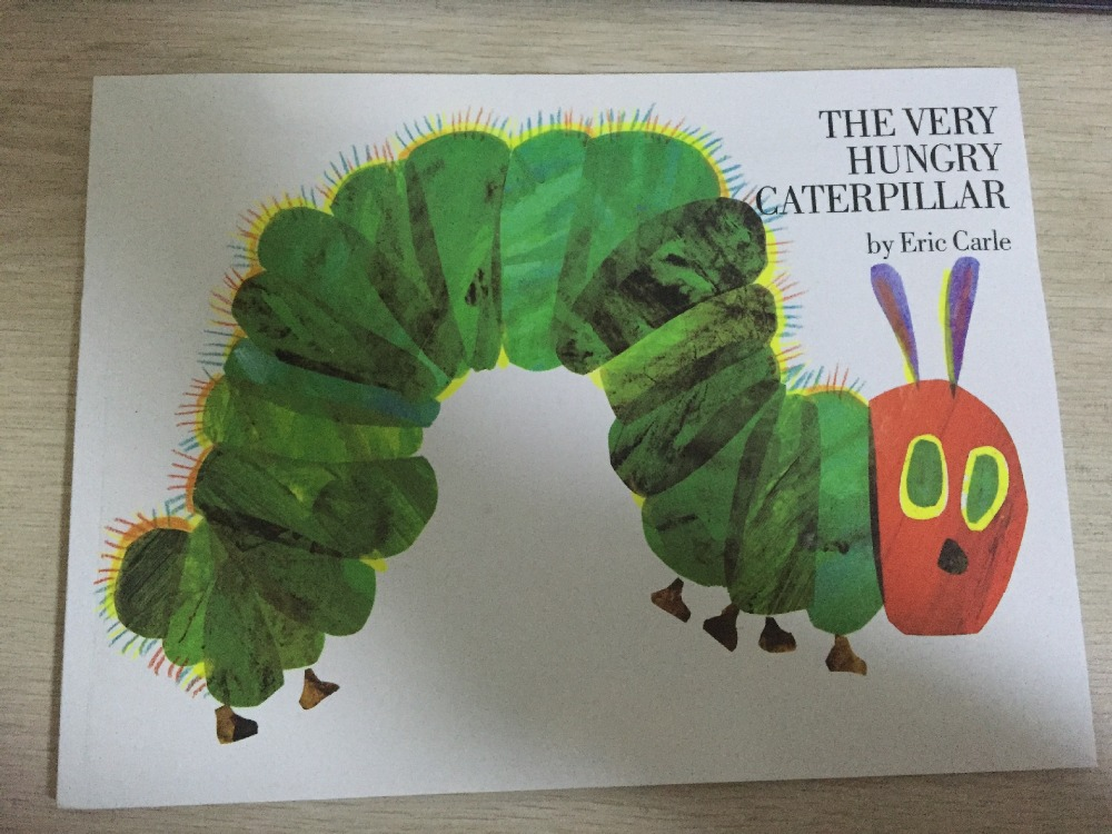 Educational children english book for baby and small children THE VERY HUNGRY CATERPILLAR eric carle recommend educational oxyphylla picture atlas map english book for baby and small children usbore lift the flap gift for kids