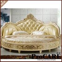 현대 유럽 우아한 고귀한 스타일의 킹 사이즈 원형 침대