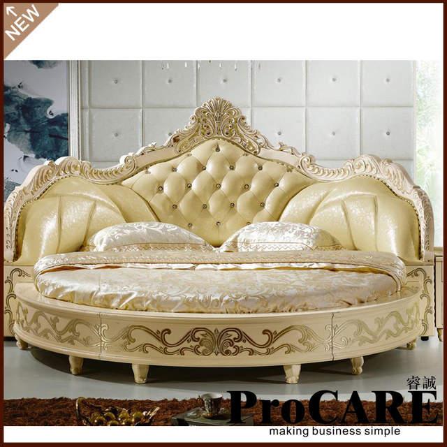 US $2631.0 |Moderno Stile Europeo Elegante Nobile King Size Letto Rotondo  Prezzo-in Letti da Mobili su Aliexpress.com | Gruppo Alibaba