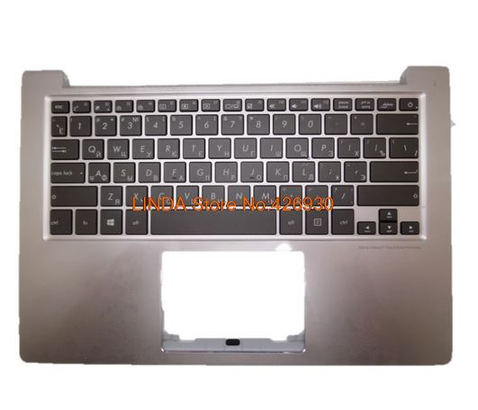 Laptop PalmRest&keyboard For ASUS U303 U303UA U303UB UX303 UX303L UX303 U303L UX303LN Silver (black RU Russia keyboard ) backlit laptop keyboard for asus p756 p756u p756ua p756ux gk greek black