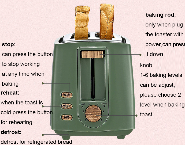 Bread Toaster With A Smiley Bread Maker Toaster Feature Functions