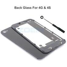Инструментами gsm заднего задняя панель стекла замена батареи дома крышка iphone