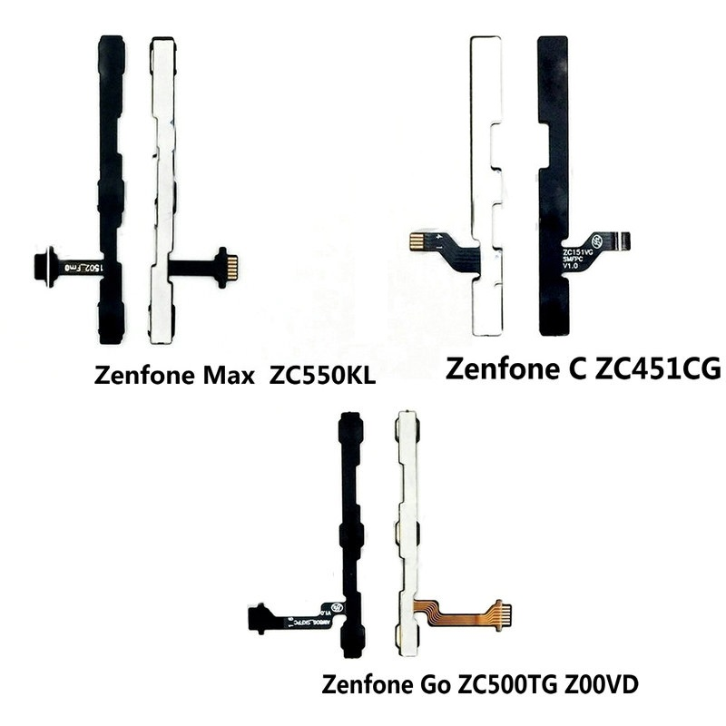 Genuine Power Volume Button Flex Cable For Asus Zenfone Max ZC550KL Go ZC500TG Z00VD ZF C ZC451CG