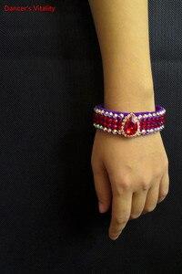 Image 4 - Strass Bauchtanz Armband Mädchen Bauchtanz Zubehör Fuß ring/Armband