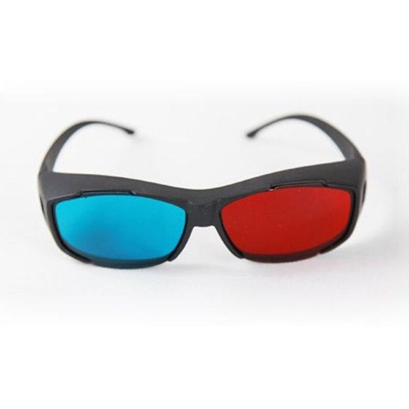 Venta caliente Rojo/Azul Gafas Anaglifo 3D Gafas Con Estilo VR TV Gafas Para 3d