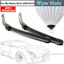 2Pcs Frameless Car Windshield Wiper Blade Vehicle Soft Rubber Wiper Blades All Weather Suitable For Alfa Romeo Brera 2006-2016