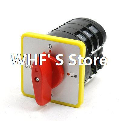 LW5D-16 YH3/3 500VAC 16A 12 Screw Terminals Changeover Cam Rotary Switch Red 660v ui 10a ith 8 terminals rotary cam universal changeover combination switch