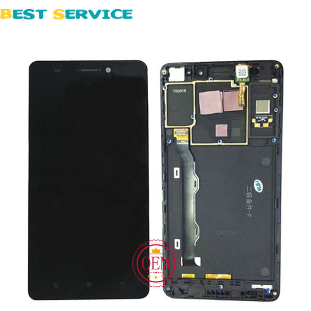 5.5 inch LCD For Lenovo K50-T5 K3 Note LCD Screen Display + Touch Screen with Frame Black + Tools Free Shipping