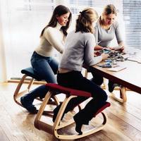 SUFEILE בית ריהוט משרדי ארגונומי מקורי כריעה שרפרף כיסא ארגונומי כיסא מחשב תנוחת כריעה נדנדה מעץ