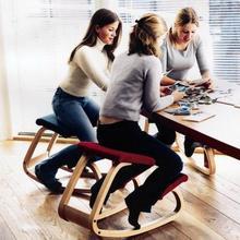 SUFEILE أثاث المكاتب المنزلية الأصلي مريح كرسي الركوع البراز مريح هزاز خشبي الركوع كرسي الكمبيوتر الموقف
