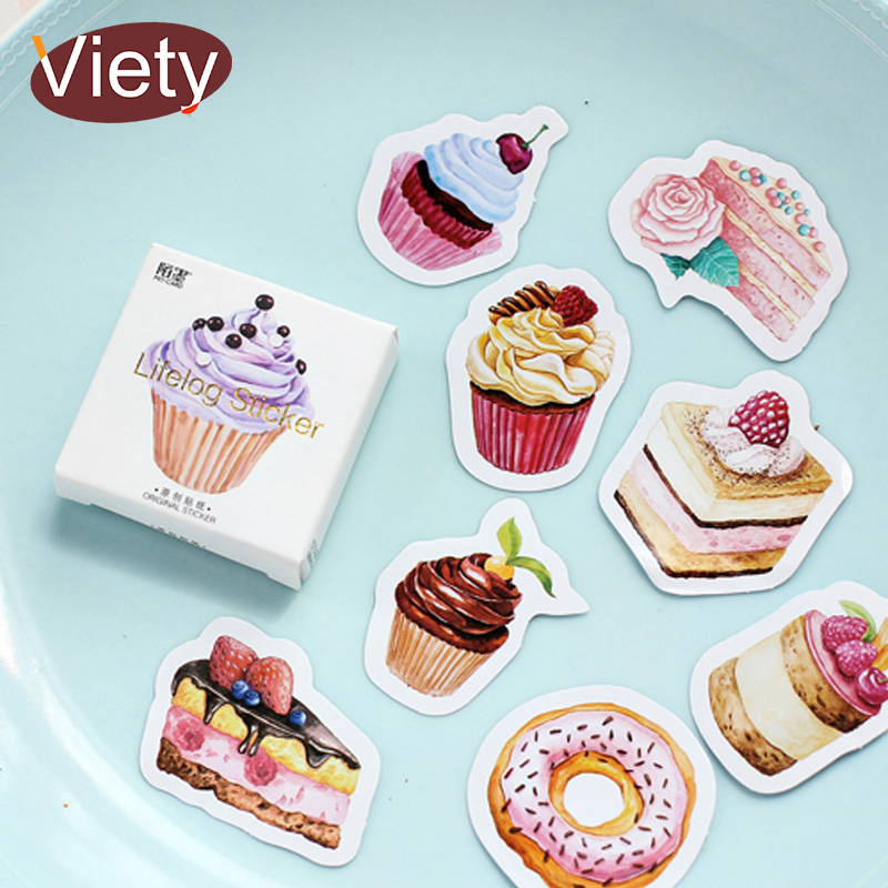 45 Pcs/lot Birthday Cake Mini Paper Sticker Decoration DIY Ablum Diary Scrapbooking Label Sticker Kawaii Stationery
