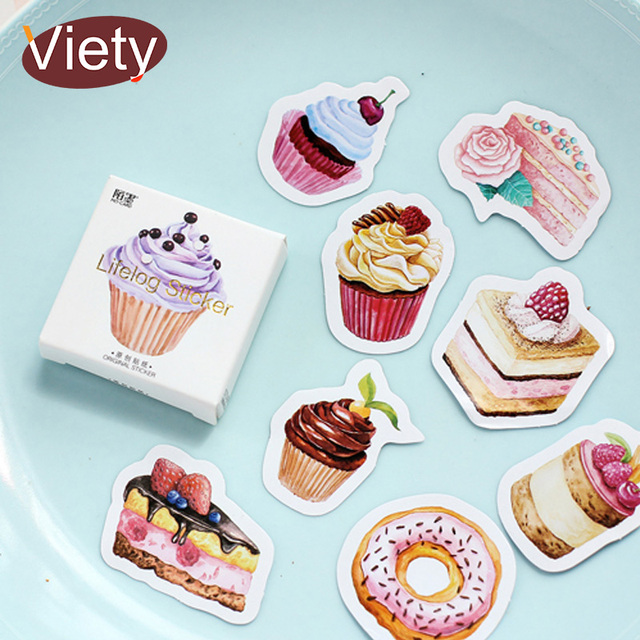 Aliexpresscom Buy 45 pcslot Birthday Cake mini paper sticker