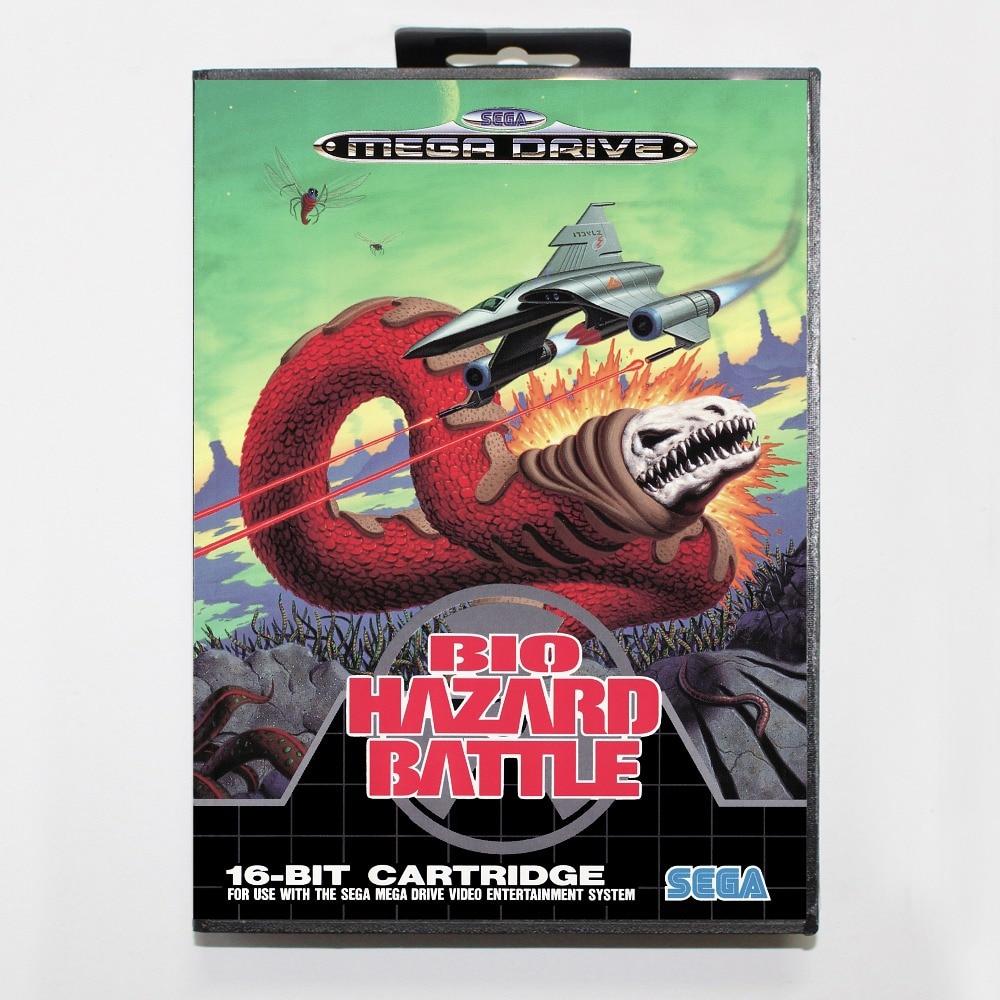 Bio-Hazard Battle Game Cartridge 16 bit MD Game Card With Retail Box For Sega Mega Drive For Genesis