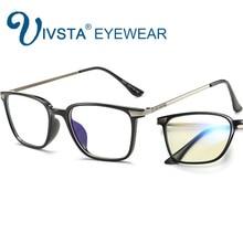IVSTA Computer Glasses Men anti Blue rays Clear Lenses Gaming Glasses Women Myopia Optical Frame TR90 Titanium Wood Grain E007