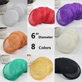 Wholesale 12pcs/lot 6 inches 8 Colors Sinamay Fascinator Base/ Wedding Party DIY Hair Accessories Women Fascinator Hat Base