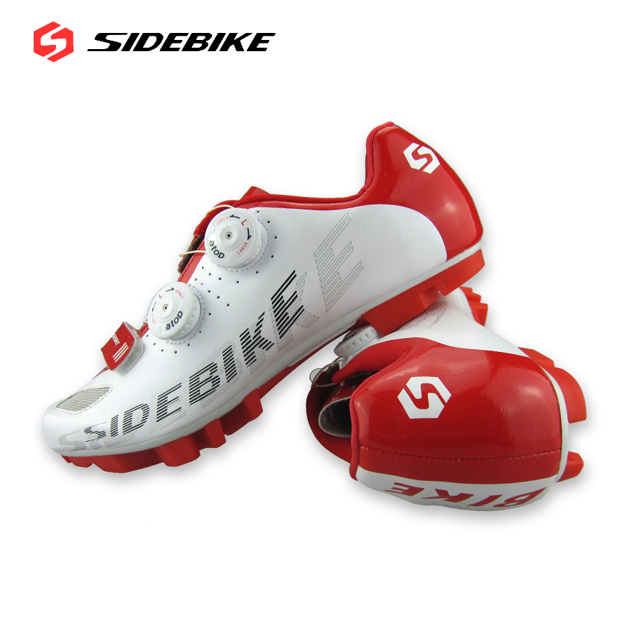 2016 SIDEBIKE Mountain Bike Shoes Men's Self-Locking Bicycle Cycling Shoes MTB Nylon-fibre White Black Athletic Shoes Sneaker