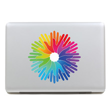 Removable DIY Avery beautiful colorful cool hand shape tablet sticker and laptop computer sticker for laptop,260x270mm