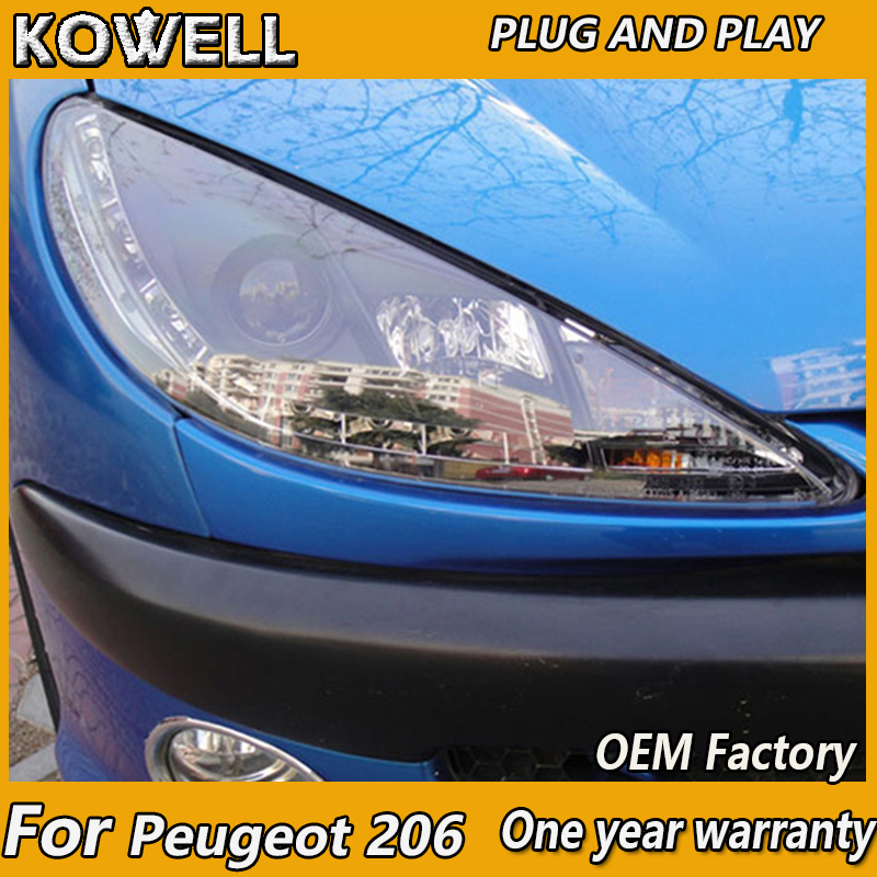 Peugeot 106 Blue 4-LED Xenon Bright Side Light Beam Bulbs Pair Upgrade