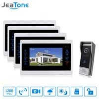 JeaTone 7 Inch Video Door Phone Monitor Intercom Doorbell System With 1200 TVL Night Vision Camera