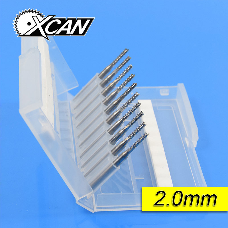 10pcs PCB Milling Cutter 2.0/2.1/2.3/2.4/2.5mm Corn Router Bit Tungsten Carbide Mini CNC Engraving End Mills yft carbide end mills diameter 20mm 4 blade tungsten steel router milling cutter hrc 45 cnc tools