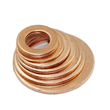 120pcs/set Assorted Solid Copper Crush Washers Seal Flat Ring Set 8 Sizes 6-20mm High Quality