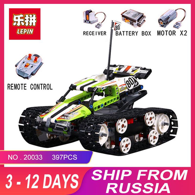 Nuevo educativos 20033, 397 piezas técnica serie control remoto caterpillar vehículos bloques de construcción ladrillos juguetes educativos con 42065