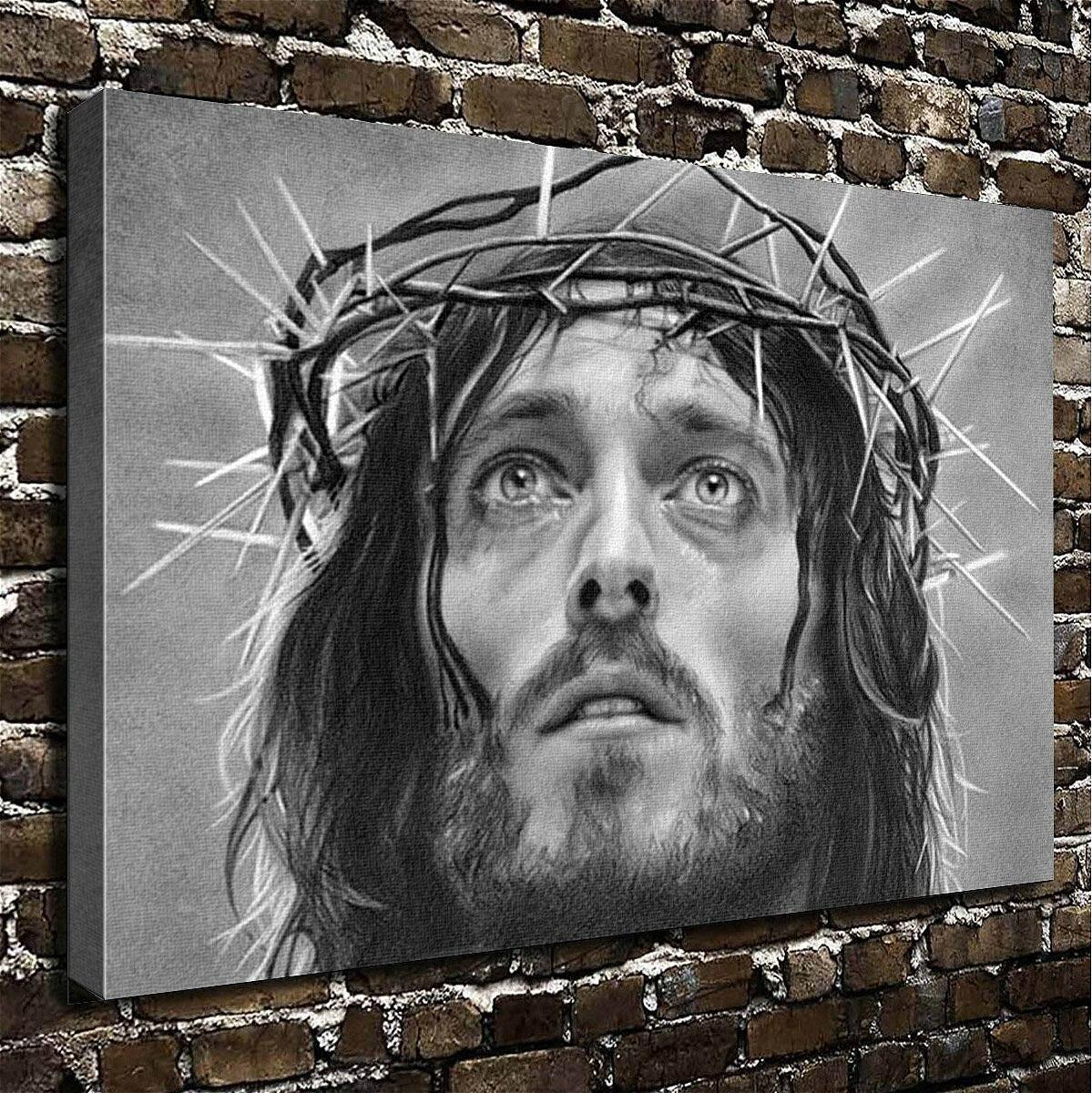 Black Jesus Wall Art: Christmas Gift Wall Art Painting Jesus Prints On Canvas