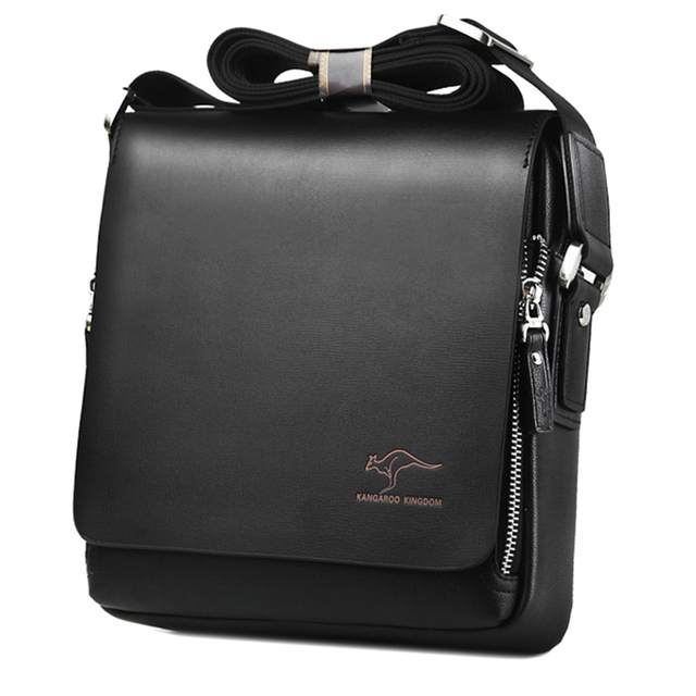Kangaroo Luxury Brand Men's Messenger Bag Vintage Leather Shoulder Bag 2