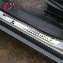 Накладка на порог автомобиля из нержавеющей стали для Volkswagen VW Golf 7 MK7 2013 аксессуары