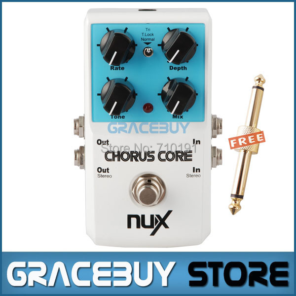 NUX Chorus Core Normal and Tri Chorus Stomp Boxes Guitar Effect Pedal True Bypass Tone Lock Function Musical Instrument mooer ensemble queen bass chorus effect pedal mini guitar effects true bypass with free connector and footswitch topper