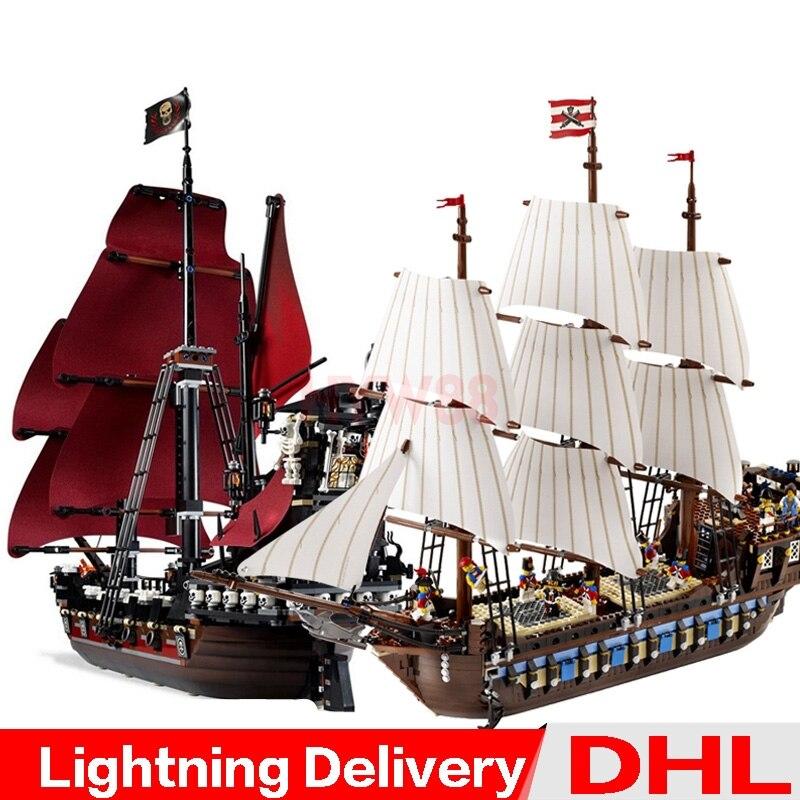 LP 16009 la vengeance de la reine Anne + 22001 navires de guerre impériaux modèles de blocs de construction pour les enfants Pirates Legoings jouets Clone 4195
