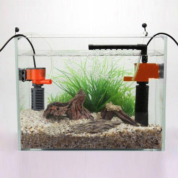 3W/5W Mini 3 in 1 Multi-function Aquarium Purifier Water Quality Tank Filter E2shopping
