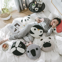 Hap deer Creative Cartoon Cushion Crocheted Cute Animal Fox Penguin Panda Dog Shape Decoration Cushions great gift for chrismas