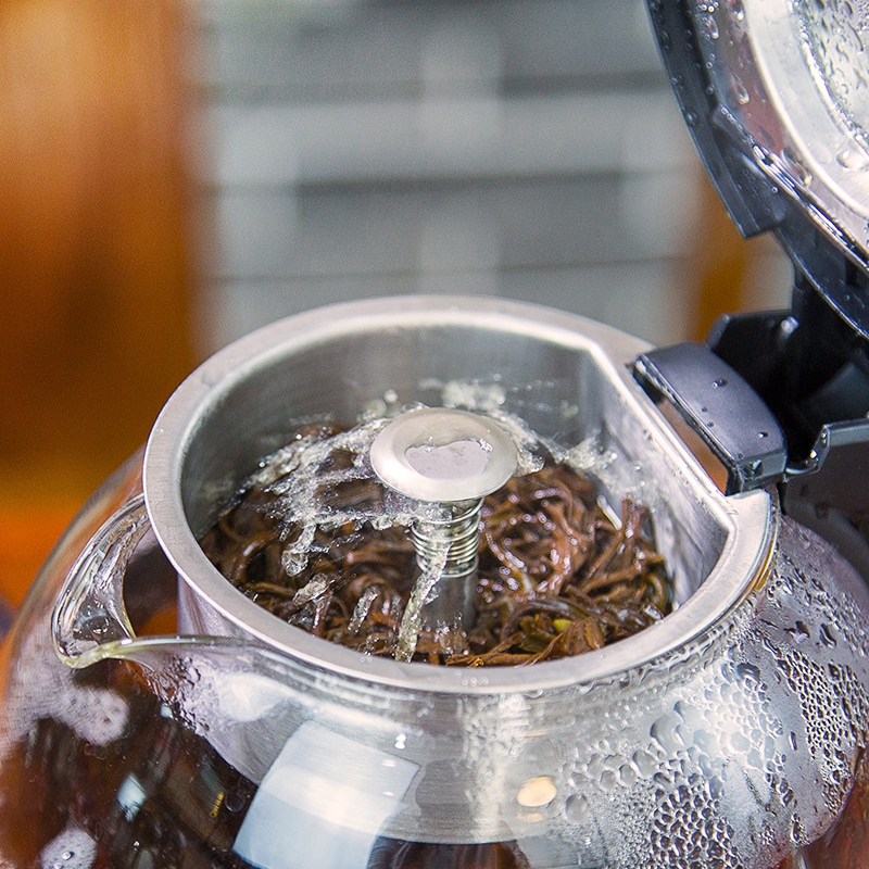 1.0l tee brewer elektrische warmwasserbereiter glas teekanne kessel ...