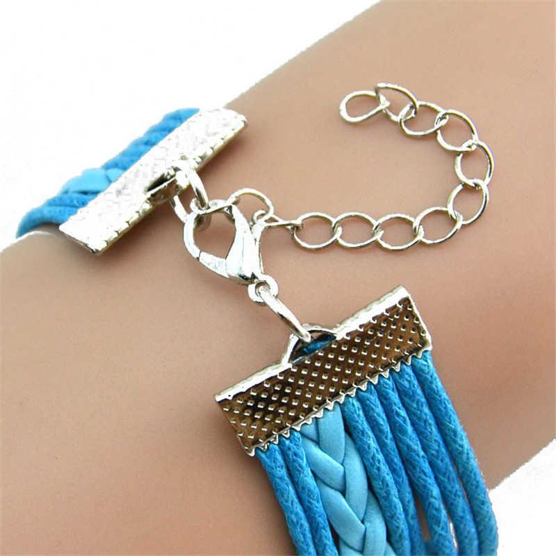 スタイリッシュワイルドヒョウブレスレットファッション女性ラブリーフクロウ真珠友情多層チャームレザーブレスレット高品質のギフト 20 センチメートル L0330