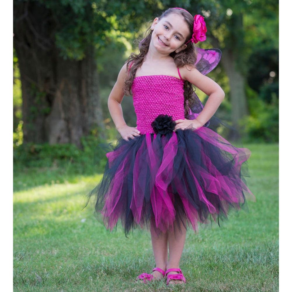Negro y color de Rosa Caliente Tutú Vestido para la Fiesta de ...