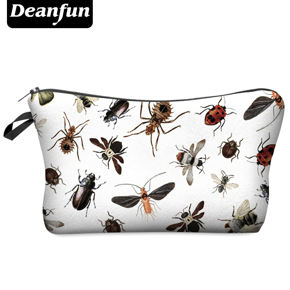 Deanfun 3D Printing Travel Cosmetic Bag  Hot-selling Women Brand Small H8 deanfun travel cosmetic bag 2016 hot selling women brand small makeup case 3d printing christmas gift water pig h46