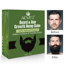 Men Organic Beard Hemp Cbd Oil Balm Moustache Wax Styling Beeswax Moisturizing Smoothing Gentlemen Beard Care Natural Hemp Balm