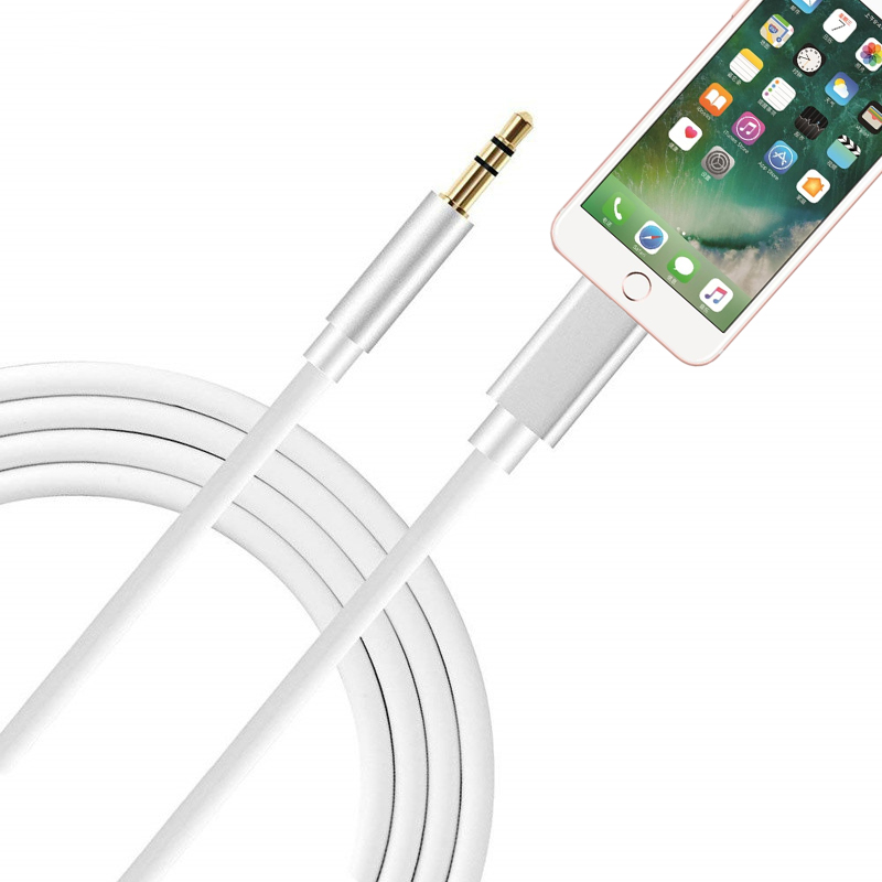 Adaptateur for Iphone 7 8 Plus X Xr Xs Max Aux Cable Adapter 3.5mm Jack Adaptador for Iphone Headphone Splitter Audio Converter(China)