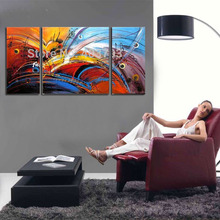 MODERN ABSTRACT HUGE LARGE CANVAS ART OIL PAINTING  abstract colors decoration framed