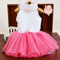 4 Colors Cute Pet Dog Wedding Dress Party Dress Fashion Leisure Priness Dress Bubble Skirt With