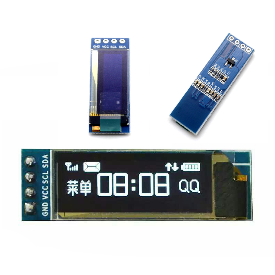 0.91 Inch 128x32 128 32 I2C IIC Interface Serial White Blue OLED LCD Display Module 0.91