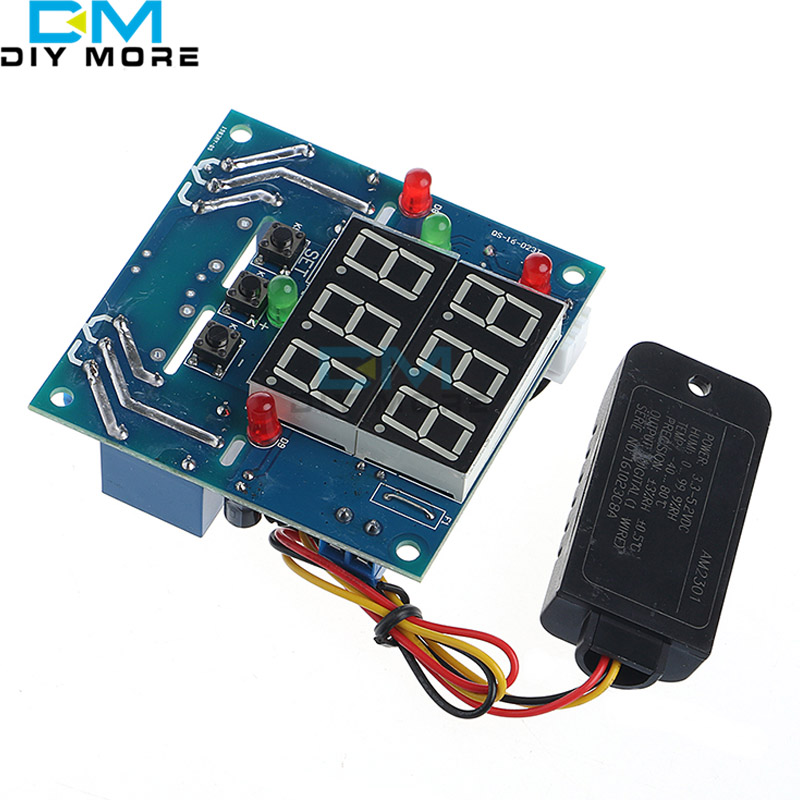 AC/DC 7V-24V 12V Digital LED Intelligent Adjustable Automatic Temperature and Humidity Controller Switch Thermostat Control 55 120 degree digital temperature controller dc 12v thermostat temperature control red and blue display