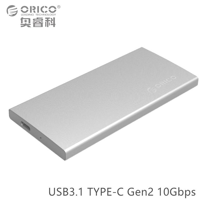 ORICO Aluminum Dual-bay USB3.1 TYPE-C Gen2 10Gbps External Hard Drive Enclosure Support RAID 0 PM Mode with TYPE-C to C Cable переходники orico адаптер orico cta1 microusb to type c поддерживает скоростную передачу данных usb 3 0