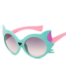2018 Nouvelle Mode lunettes de Soleil Garçons Filles Enfant de Kid Beau  Dessin Animé Cat Eye Lunettes de Soleil Gradient Lentill. b4b3145b0ec0