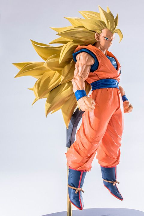 Banpresto SCultures Dragon Ball Z Son Gokou Action Figure 170MM Dragon Ball Goku Model Toy Figuras DBZ Super Saiyan 3 Son Goku 16cm anime dragon ball z goku action figure son gokou shfiguarts super saiyan god resurrection f model doll