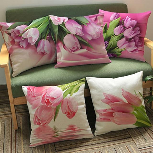 Rose rosa piazza cuscini per divani cucina di lusso sedia cuscini ...