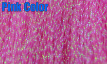 MNFT 5Pcs Flashabou Holographic Tinsel Fly Fishing Tying Crystal Flash String Jig Hook Lure Making Fishing Material Pink Red Etc