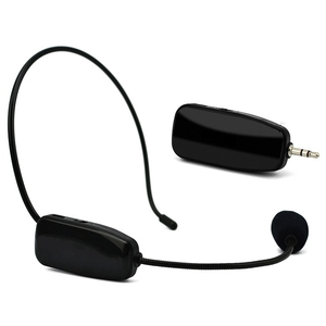 Hot 2 in 1 Handheld Uhf Wireless Microphone Professional Head-Wear Mic Voice Amplifier for Speech Teaching(China)