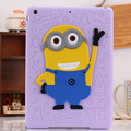 For iPad 5/6 Air 12 Case Silicone 3D Despicable Me Minions Soft Rubber Case Cover For iPad 234 / mini 123 Newest Drop Resistance
